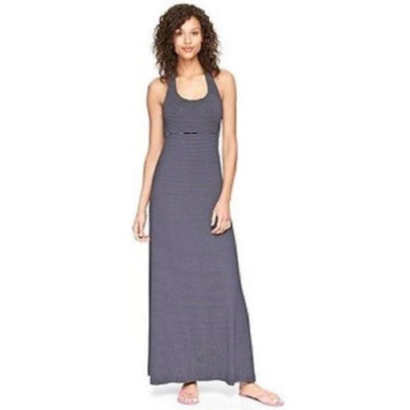 GAP Dresses & Skirts - GAP Blue & White Striped Halter Maxi Dress Small